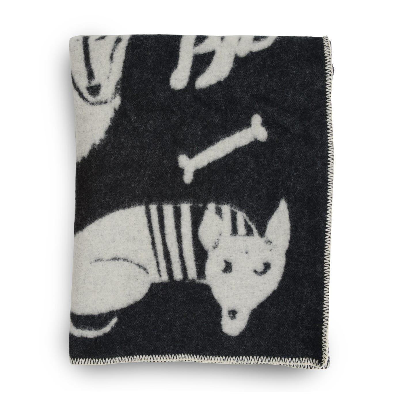 Koirapuisto Black & White Throw