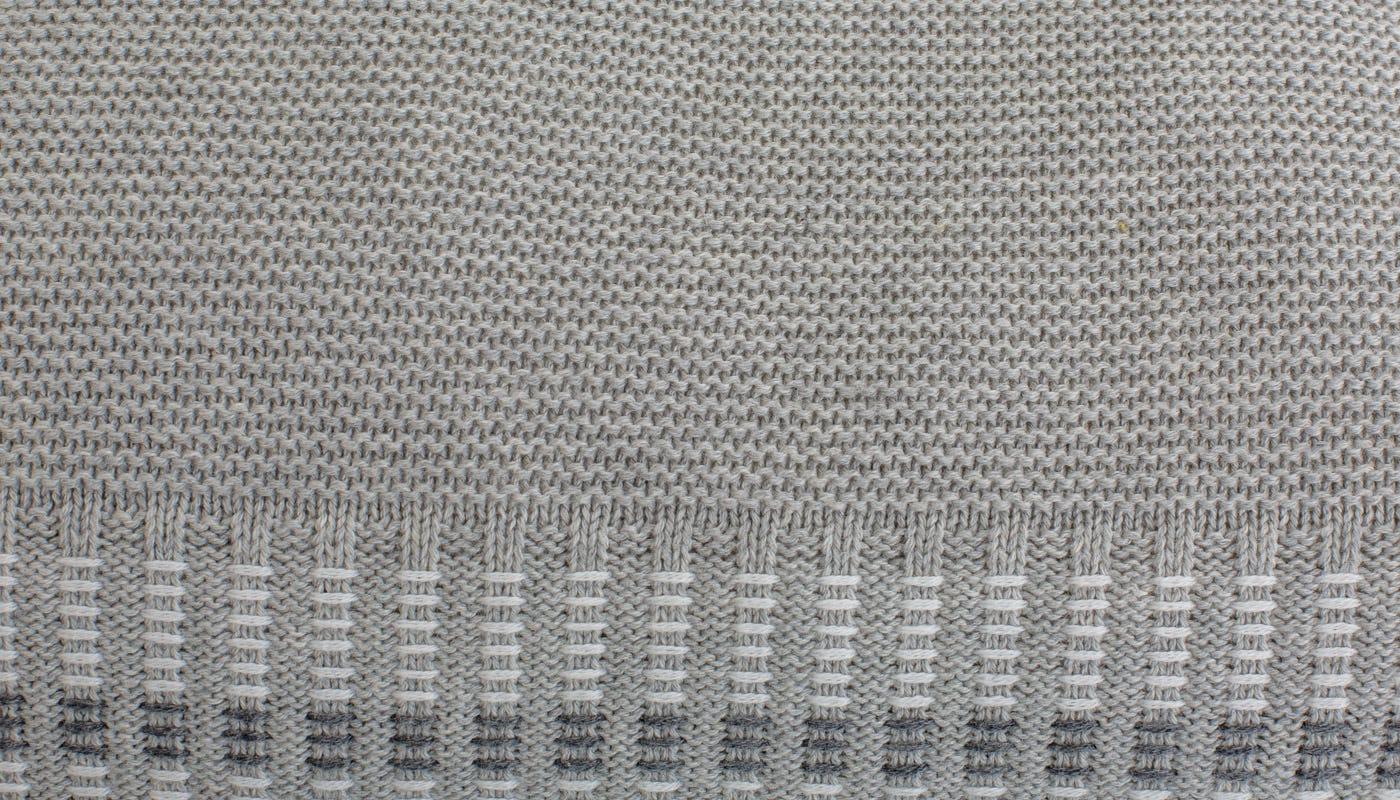 Contrast Stitch Melange Cushion Grey
