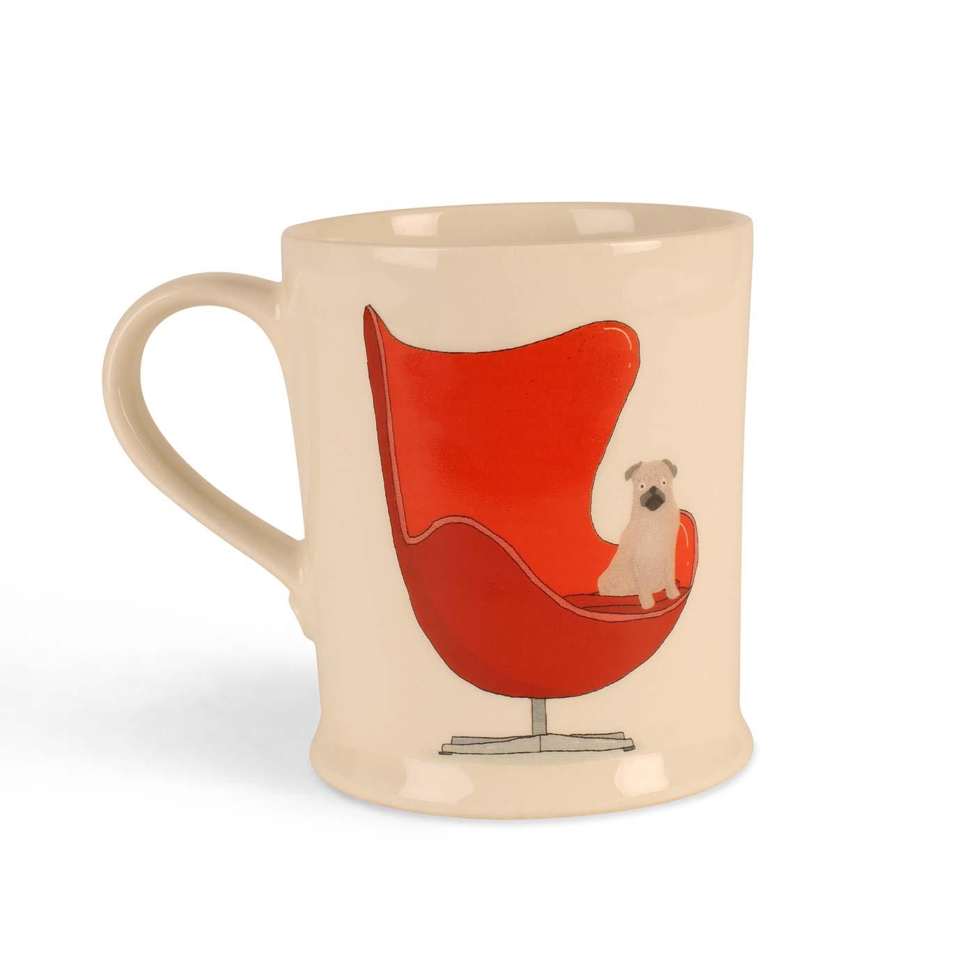 Exclusive Pug On Chair Mug