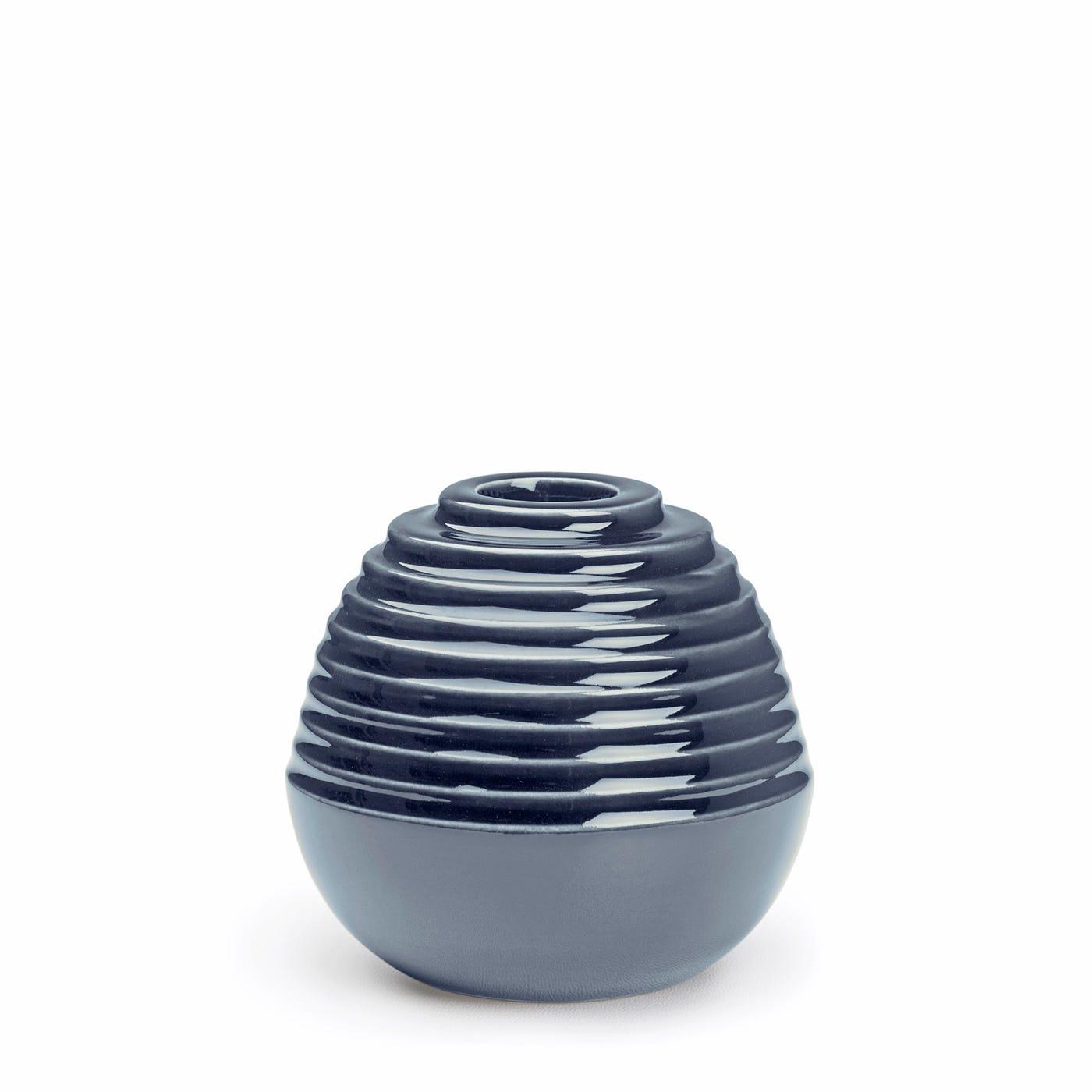 Cono Round Candleholder Dusty Blue