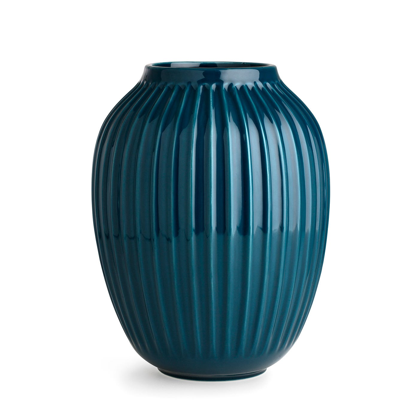 Kahler Hammershoi Ridged Vase Large Blue Heal S