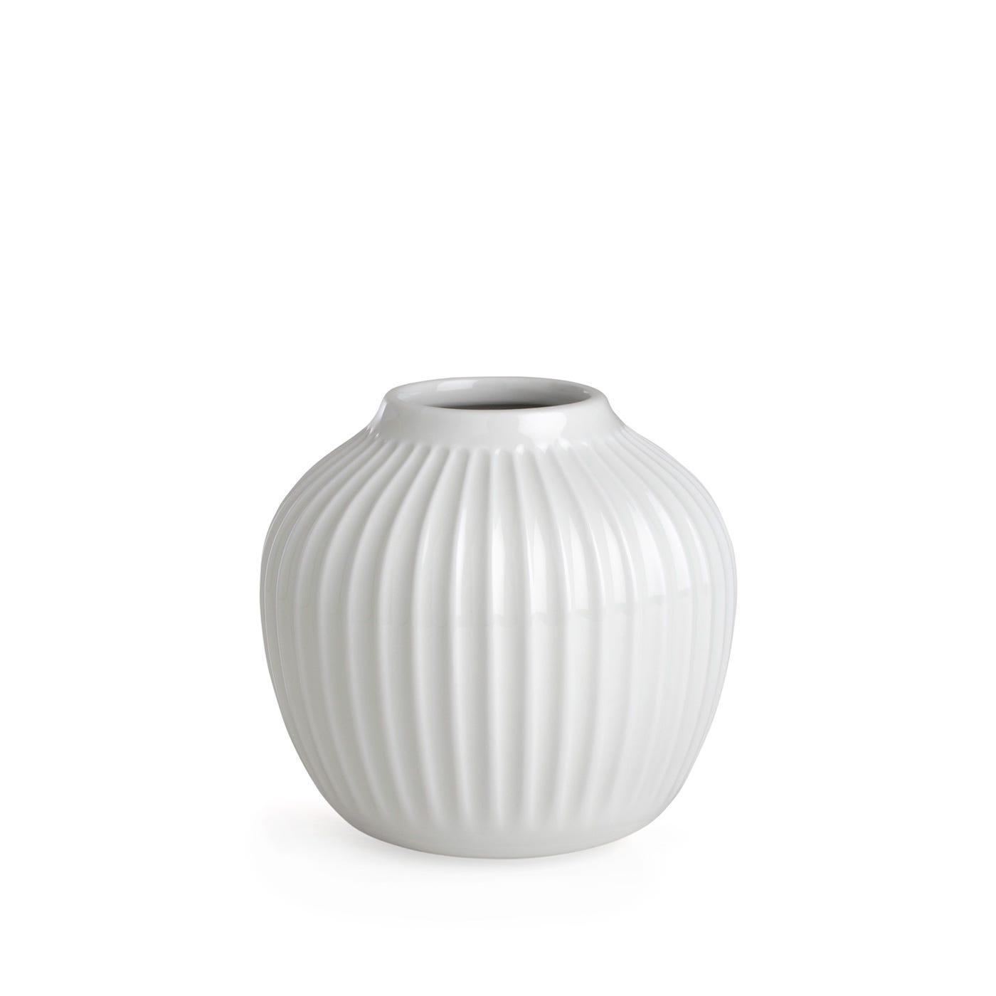 Hammershoi Ridged Vase Small White