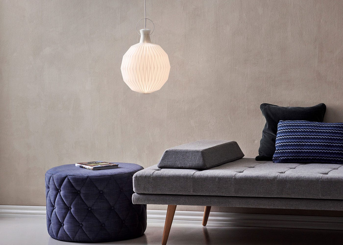 As Shown: 101 Lantern Pendant Paper in Small - On.