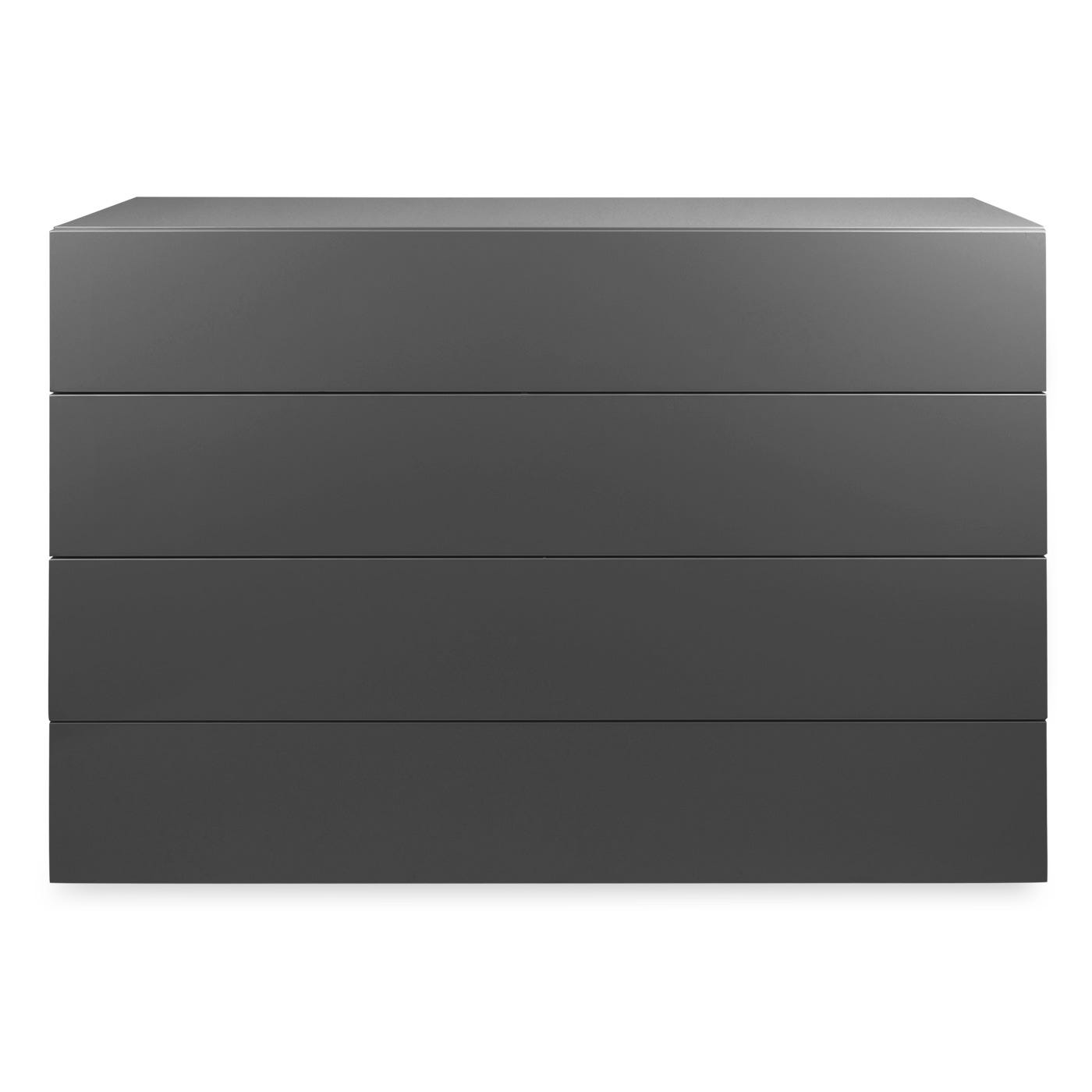 Space 4 Draw Wide Chest,Lead Gloss Lacquer