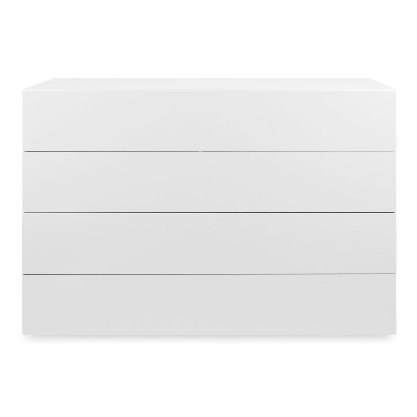 Space 4 Drawer Wide Chest White