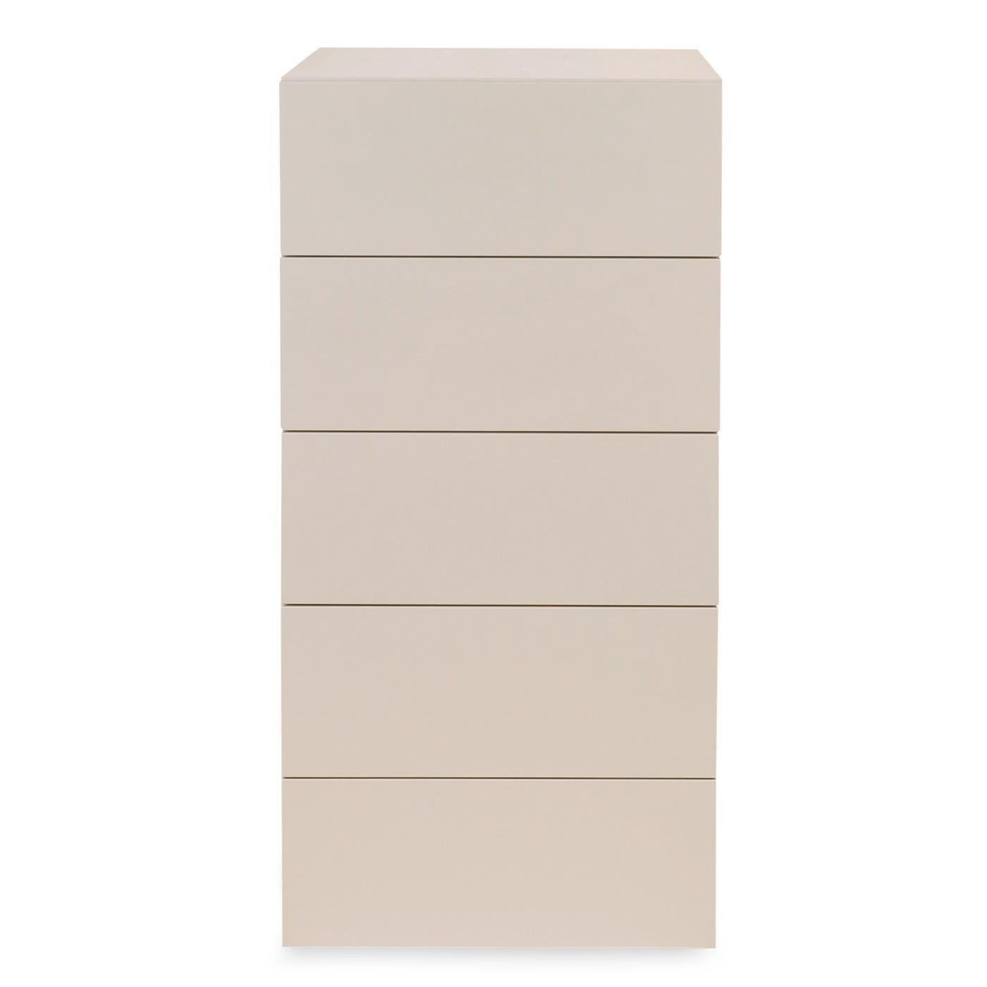 Space 5 Draw Tall Chest Turtledove Gloss Lacquer