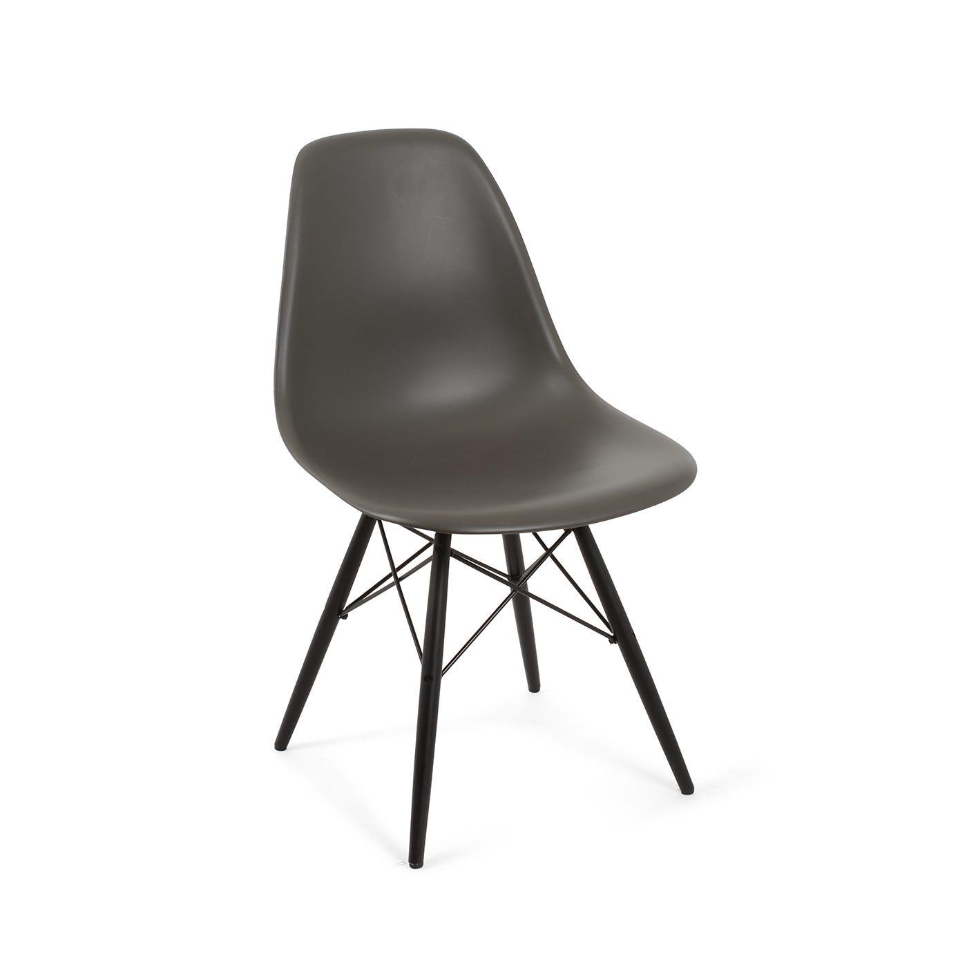 Eames DSW Chair New Height Basalt Dark Maple Legs