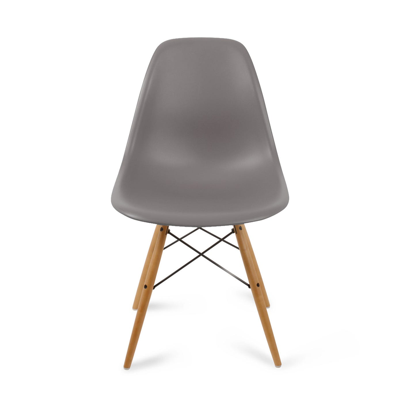 Eames DSW Chair New Height Mauve Grey Light Maple Legs