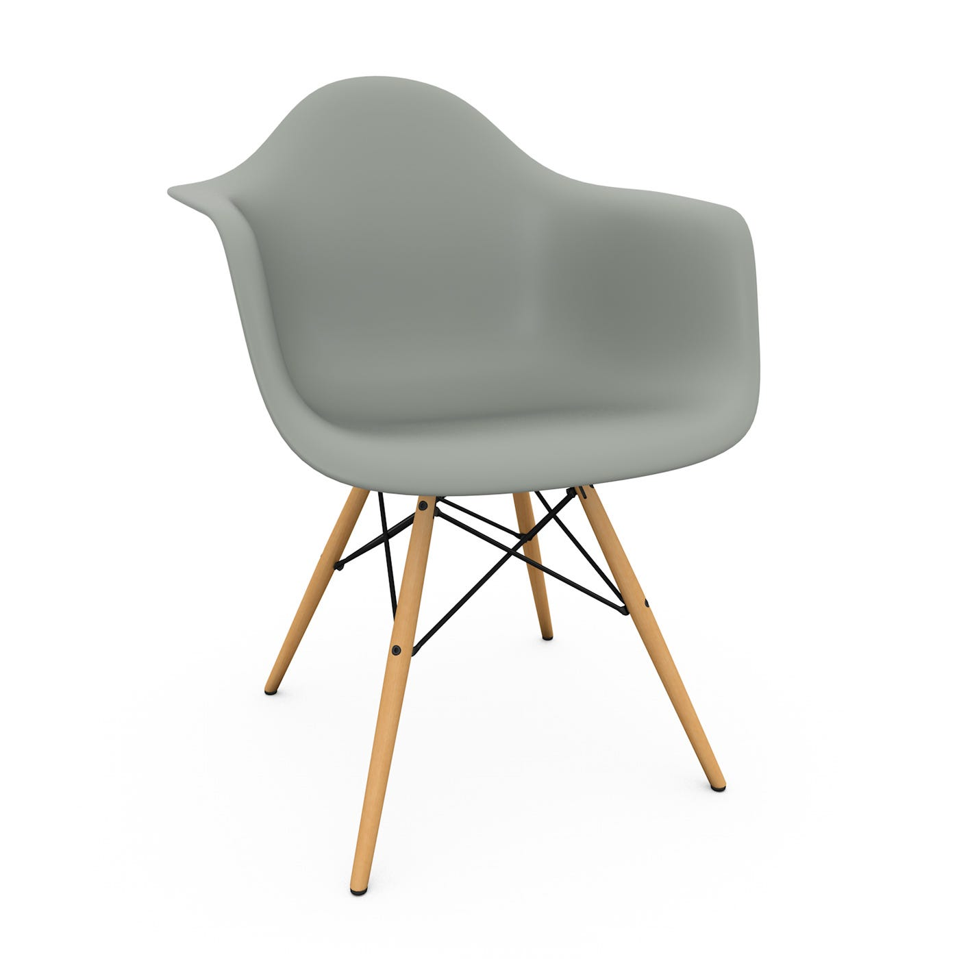 Eames DAW Armchair New Height Moss Grey