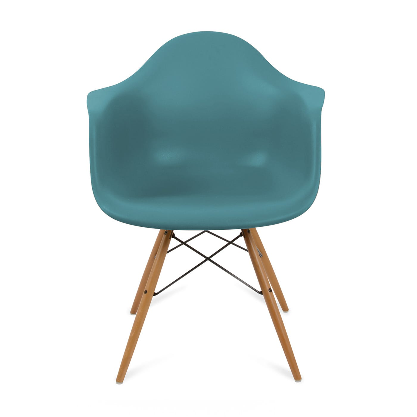 Eames DAW Armchair New Height Ocean Light Maple Legs