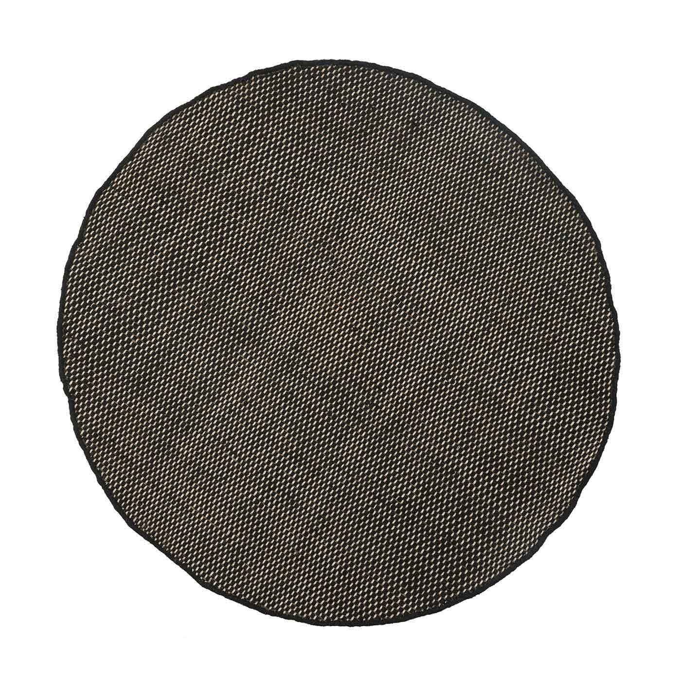 Asko Round Rug Black