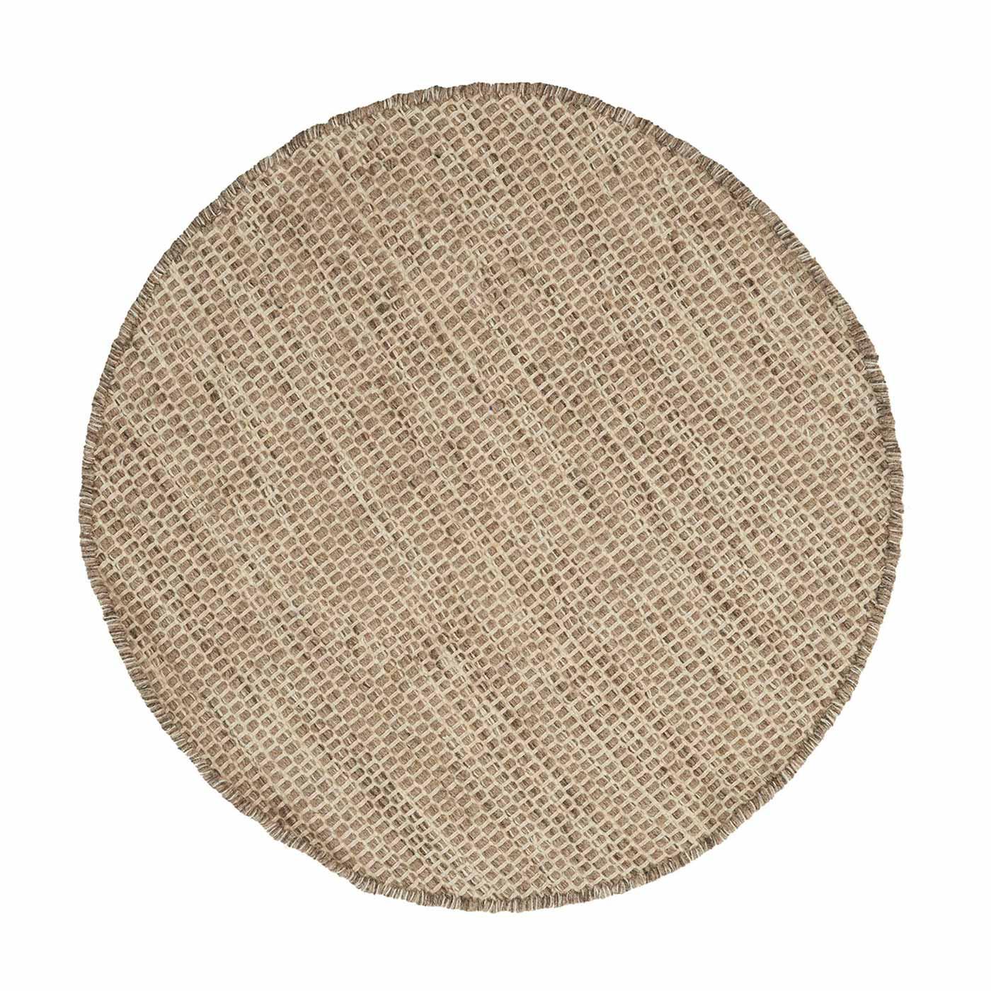 Asko Round Rug Light Grey