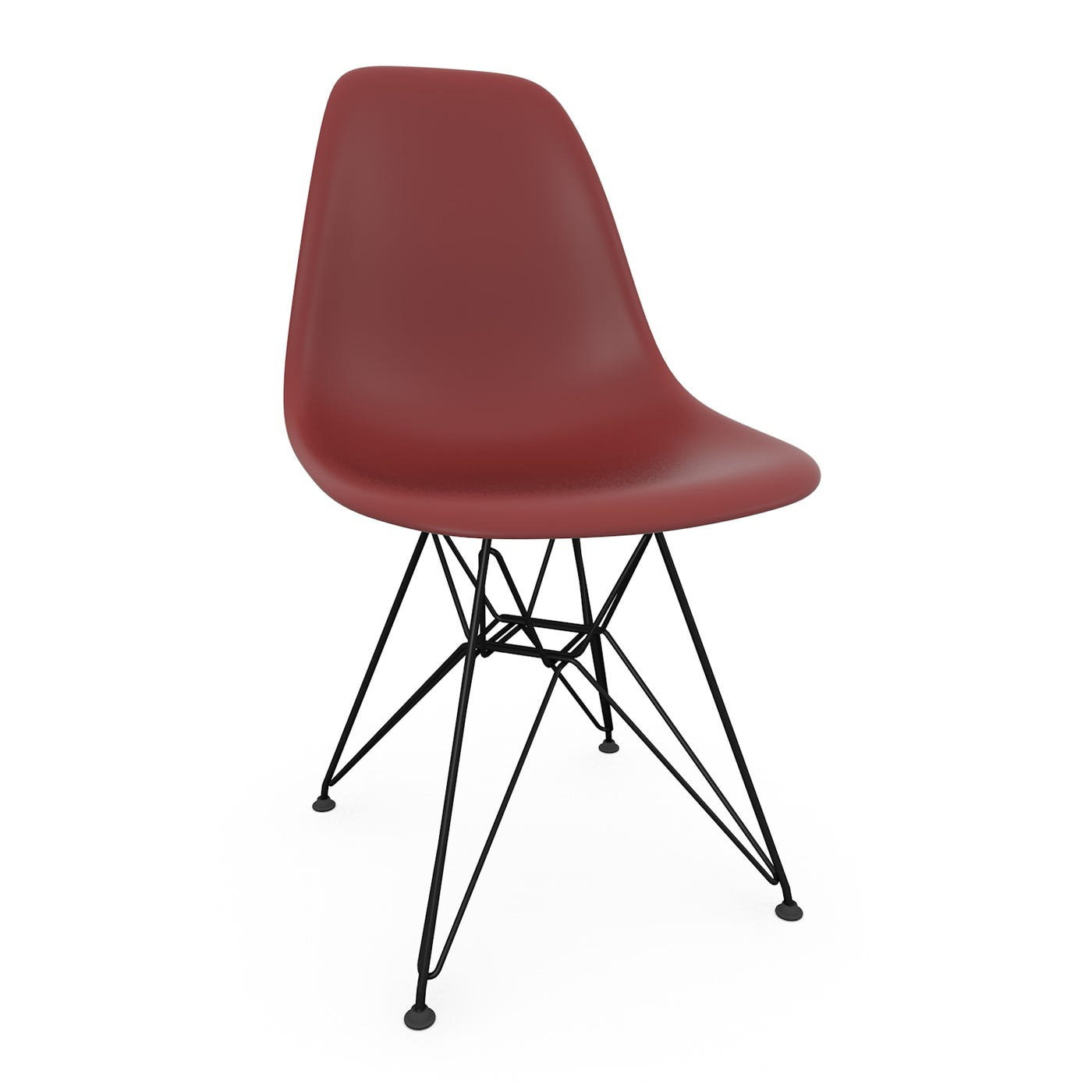 Eames DSR Chair New Height Oxide Red Basic Dark Legs