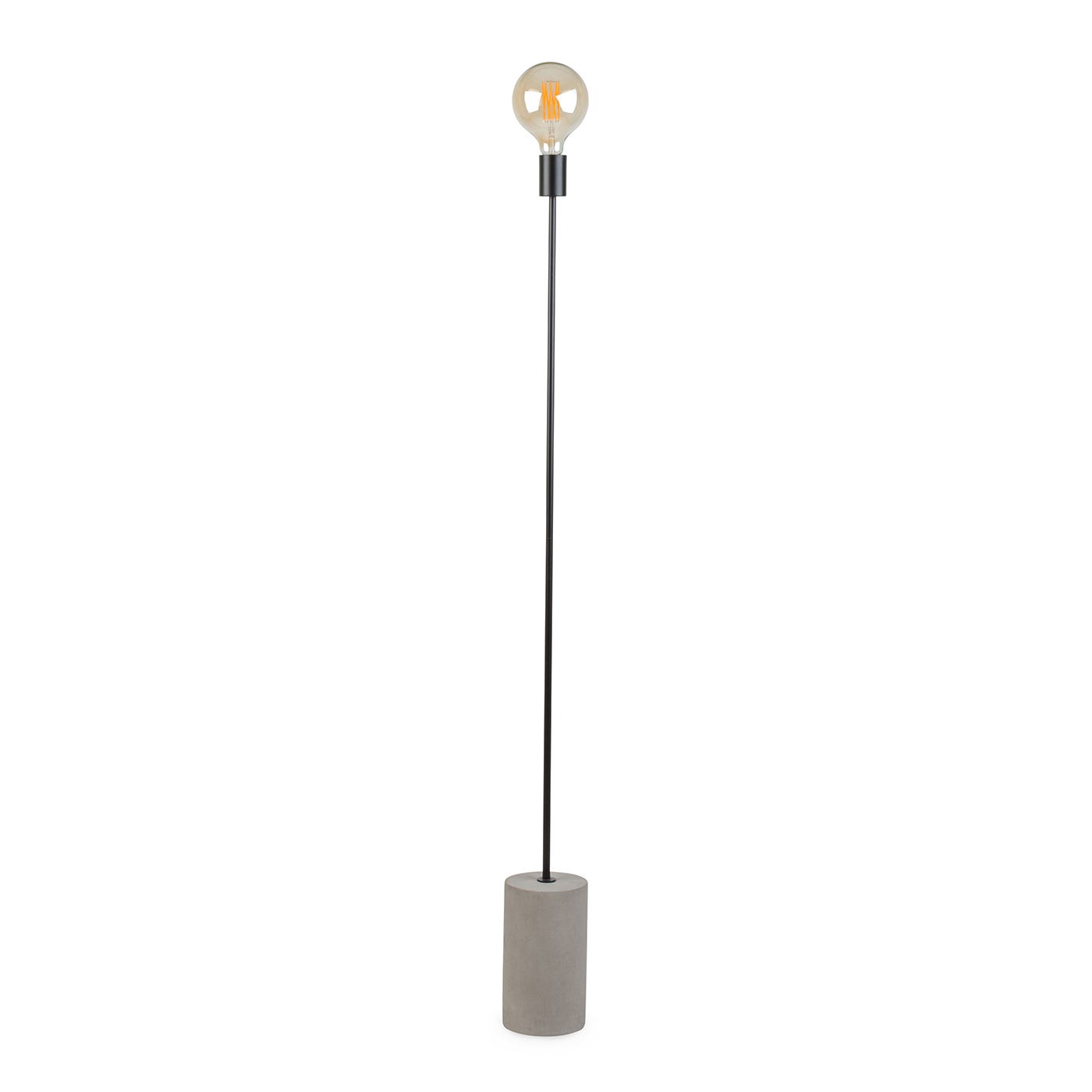White Floor Lamp Base - Bristol floor lamp matt black concrete base