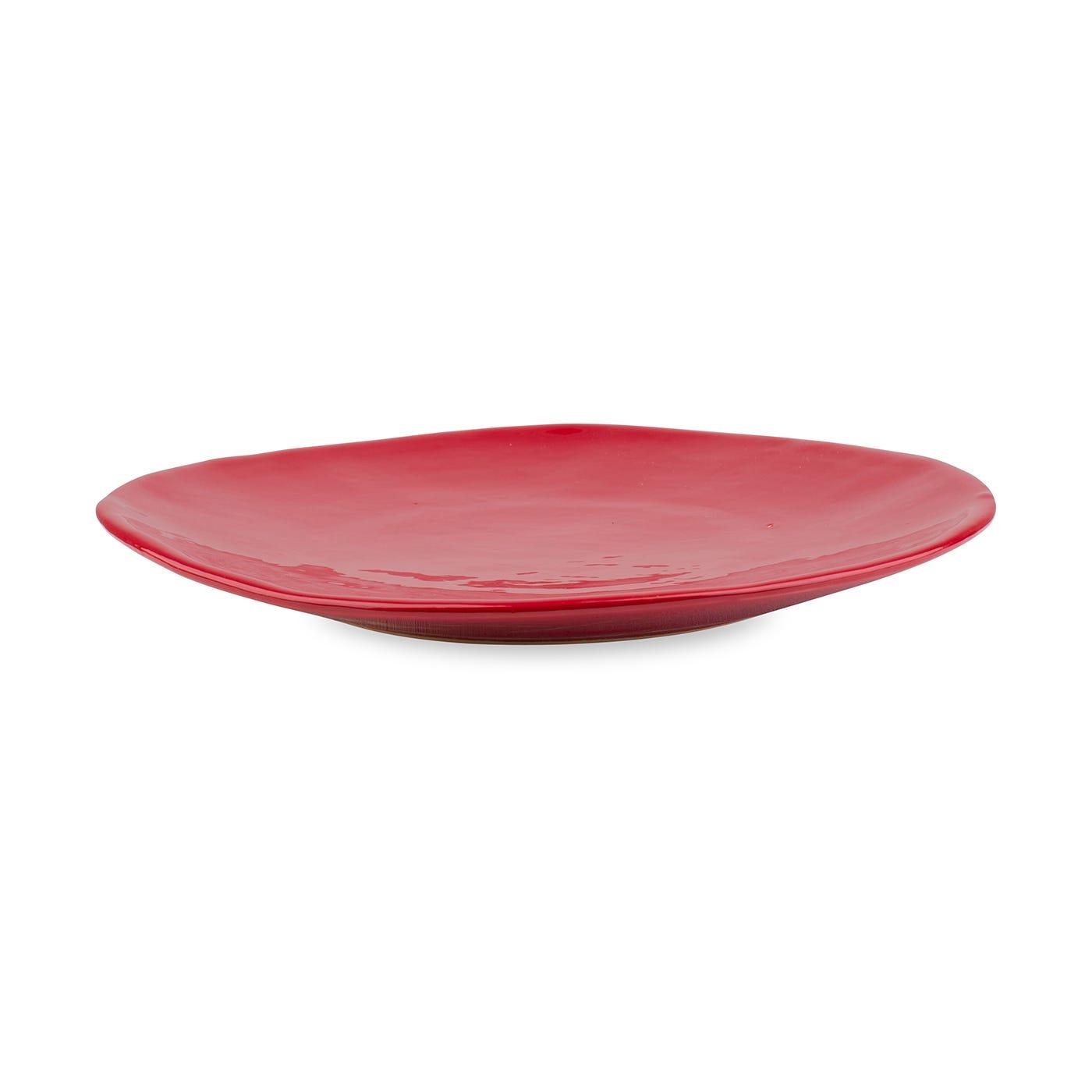 Red Glaze Dinner Plate