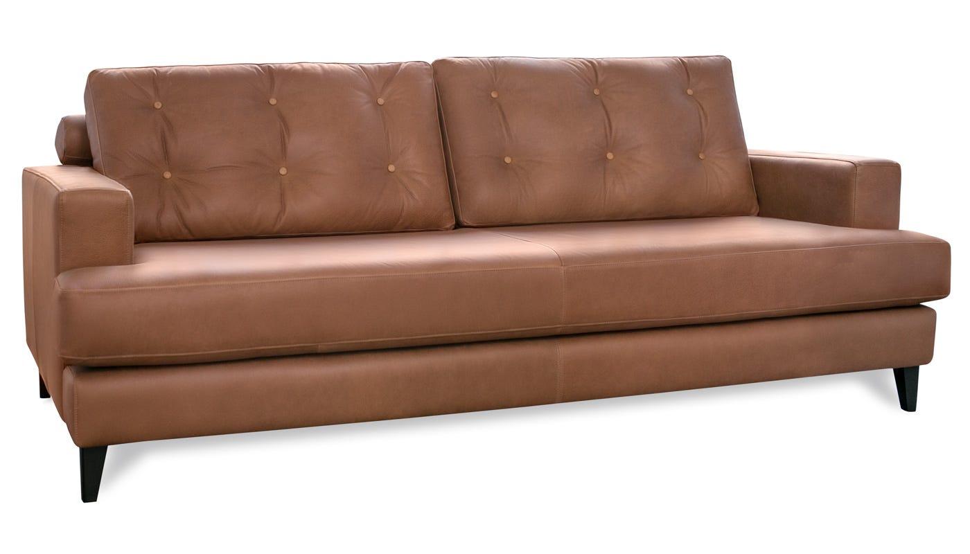 Sofa Cognac mistral 4 seater sofa leather cognac black