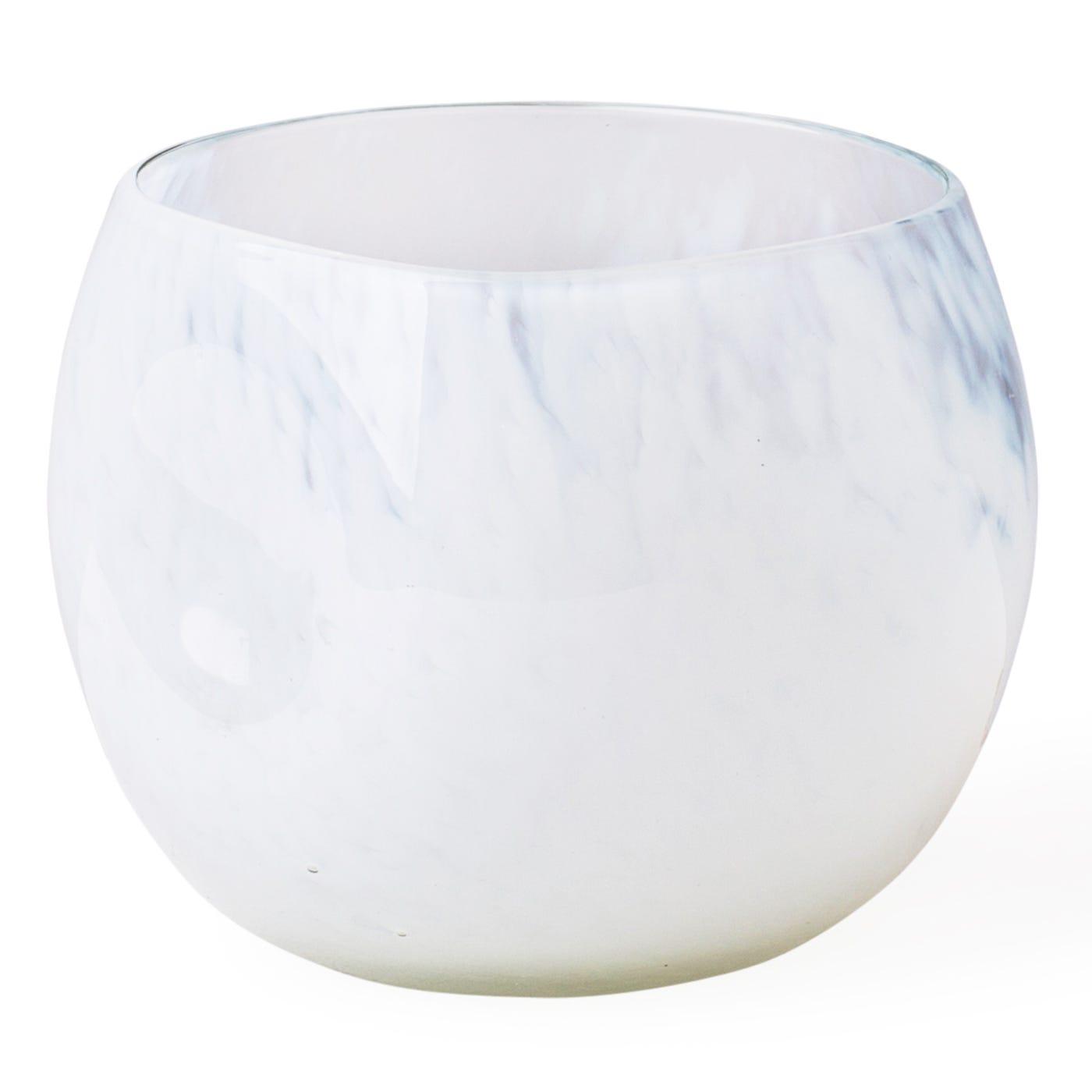 Tumbler Organic White Marble
