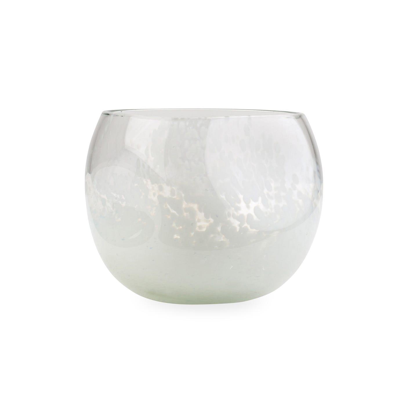 Ngwenya Glass TM Organic Tumbler White Marble
