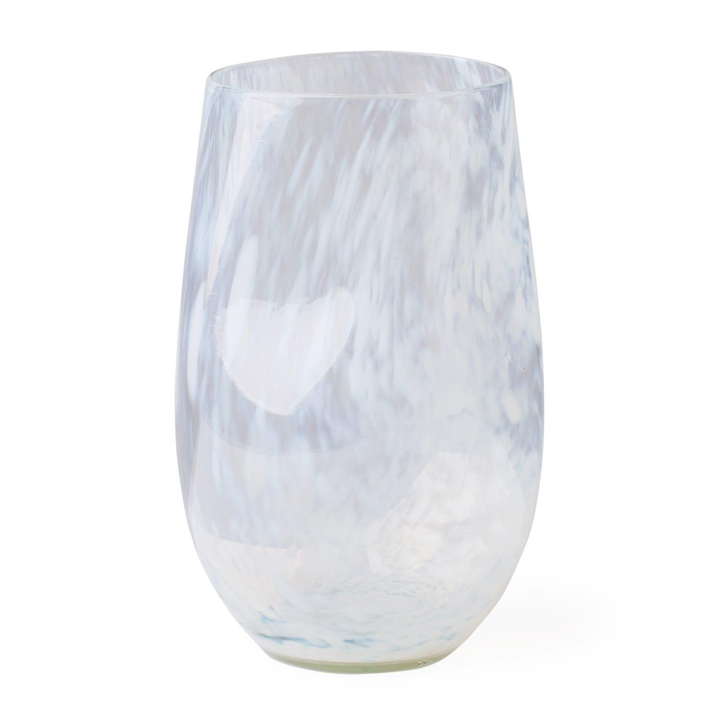 High Ball Organic White Marble