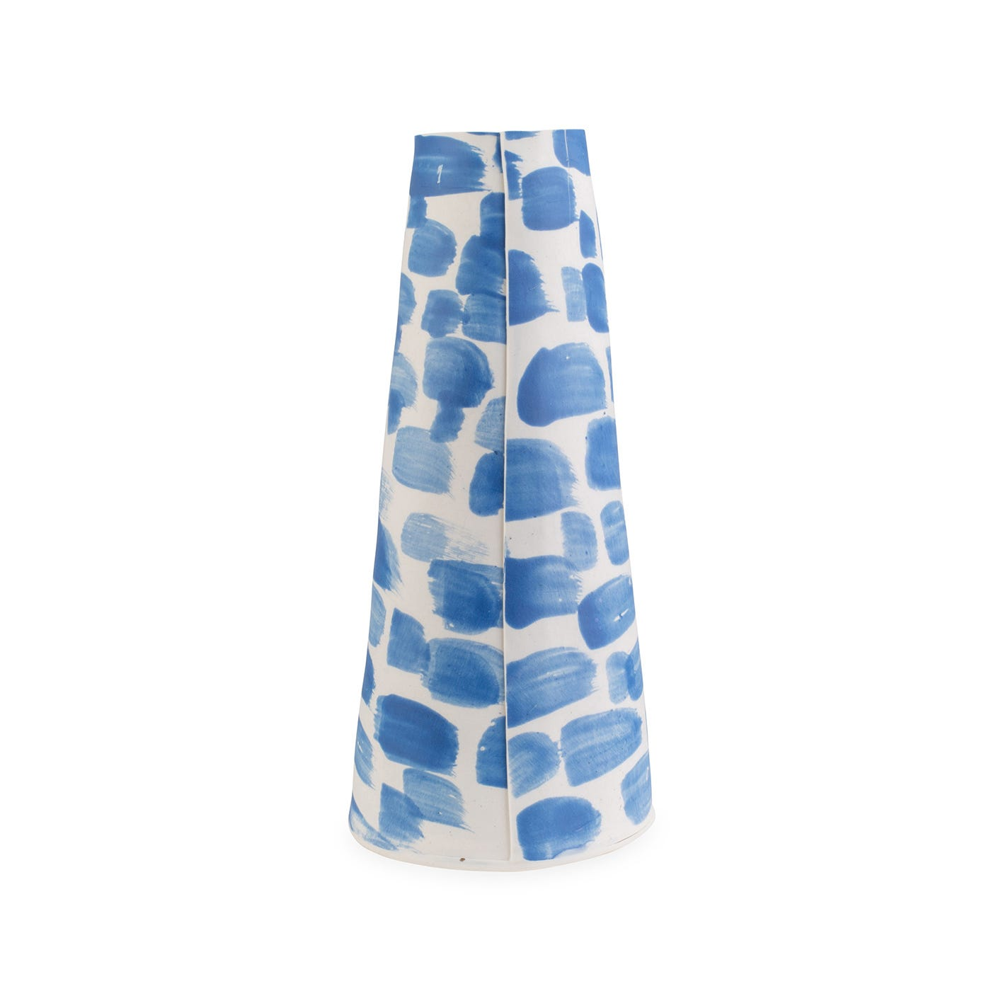 Taper Vase Blue Broad Brushstroke Extra Large