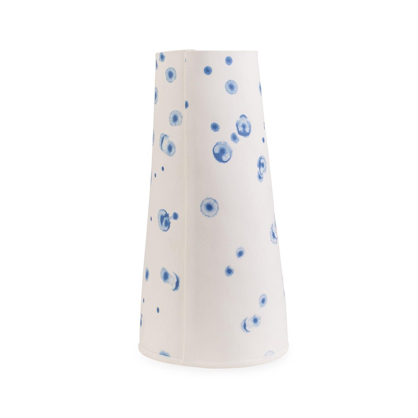Taper Vase Decorex Blue Ink Spot Large