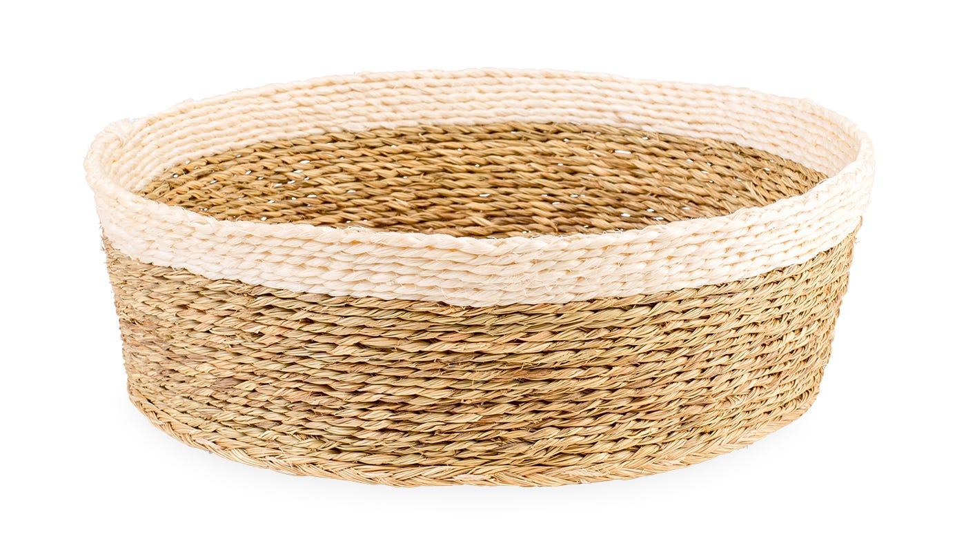 Gone Rural Round Basket White Large