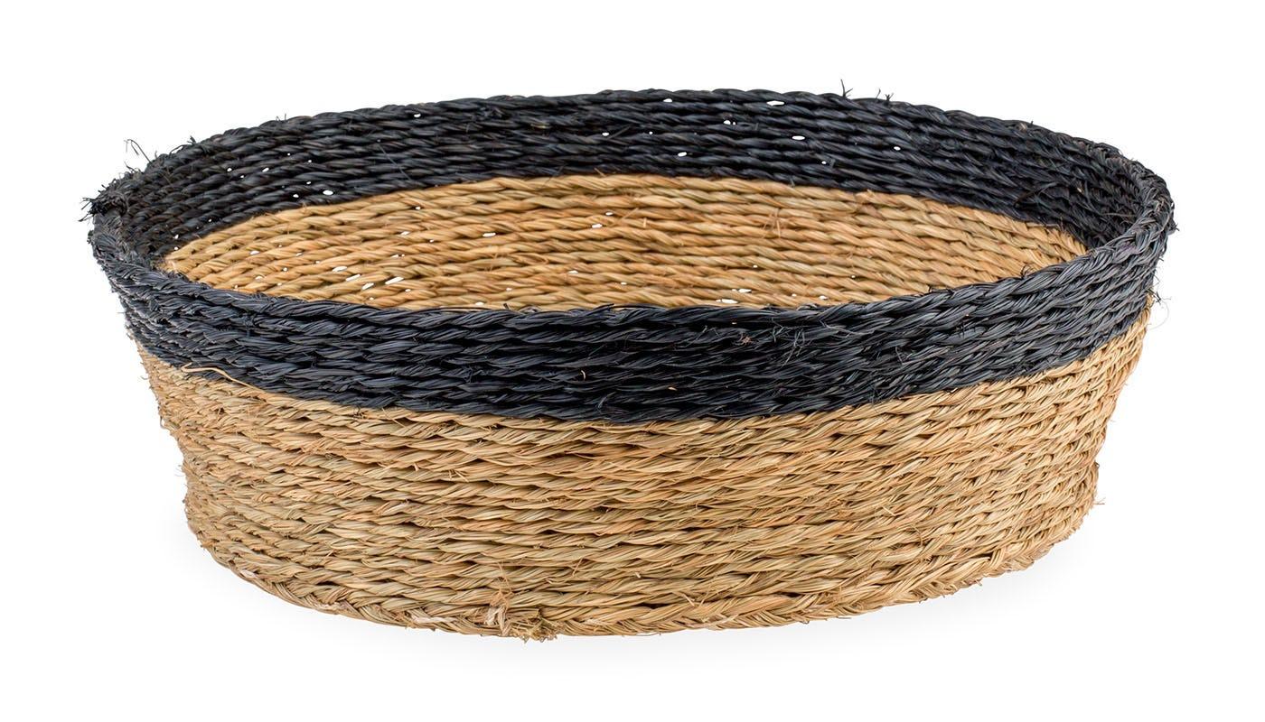Gone Rural Round Basket Black and Natural Large