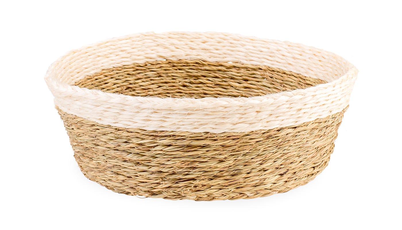 Gone Rural Round Basket White Small