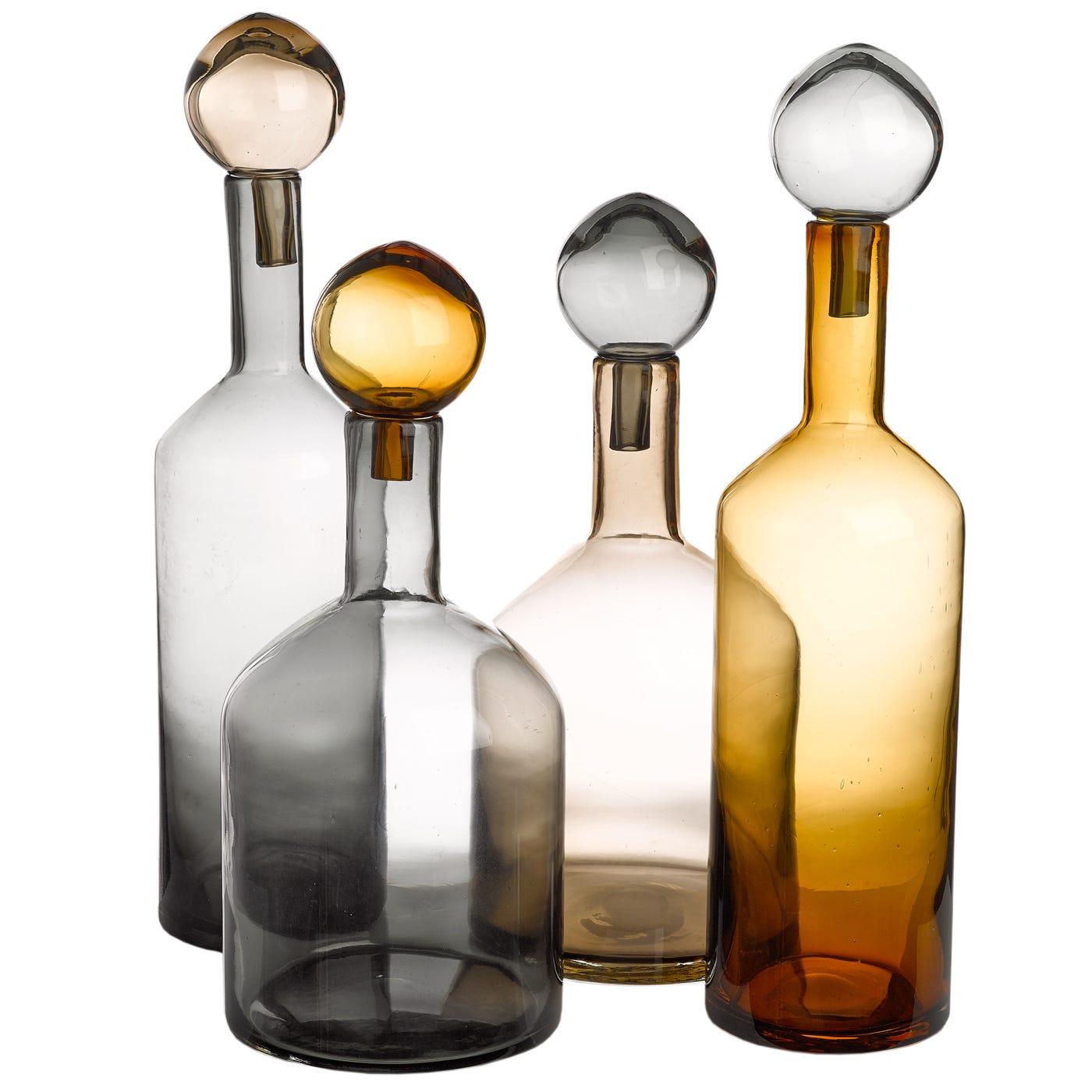 Bubbles & Bottles Set Of 4 Lustre