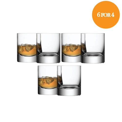 Bar Tumbler Set Of 6 For 4