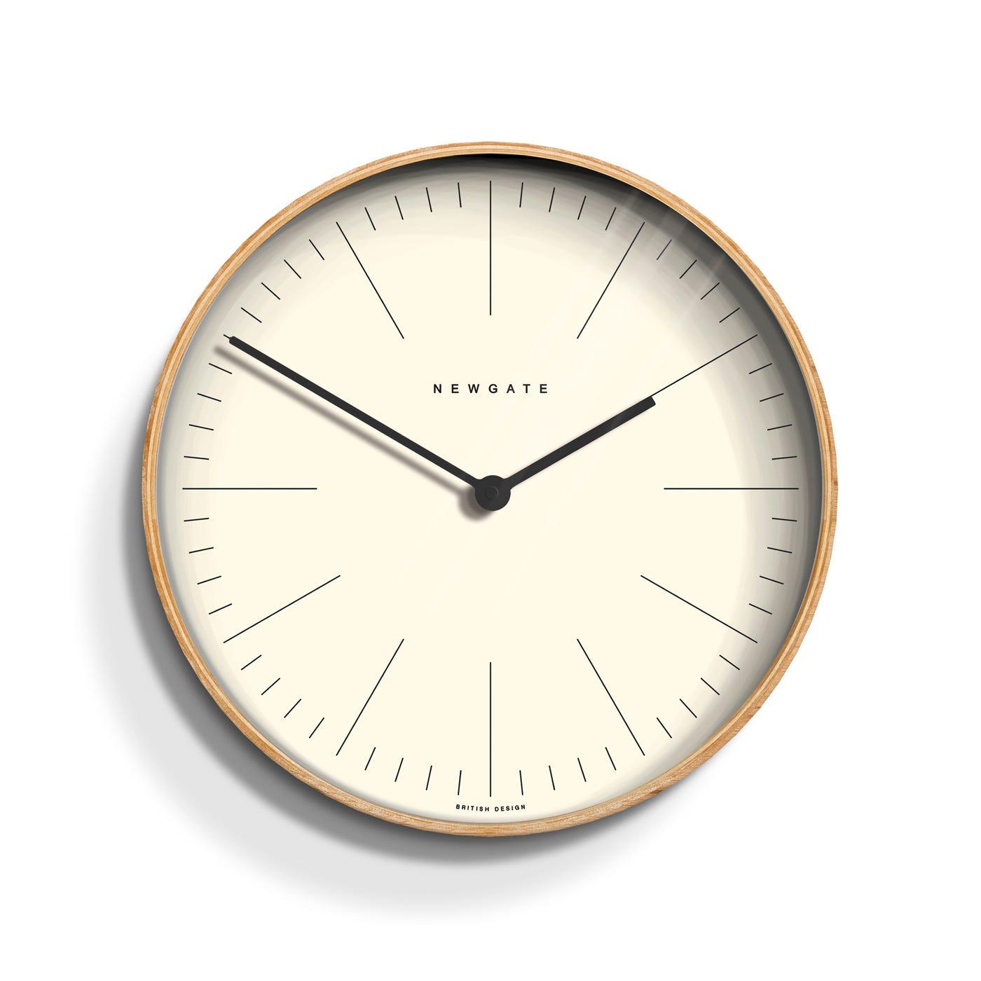 Mr Clarke Pale Wood Wall Clock
