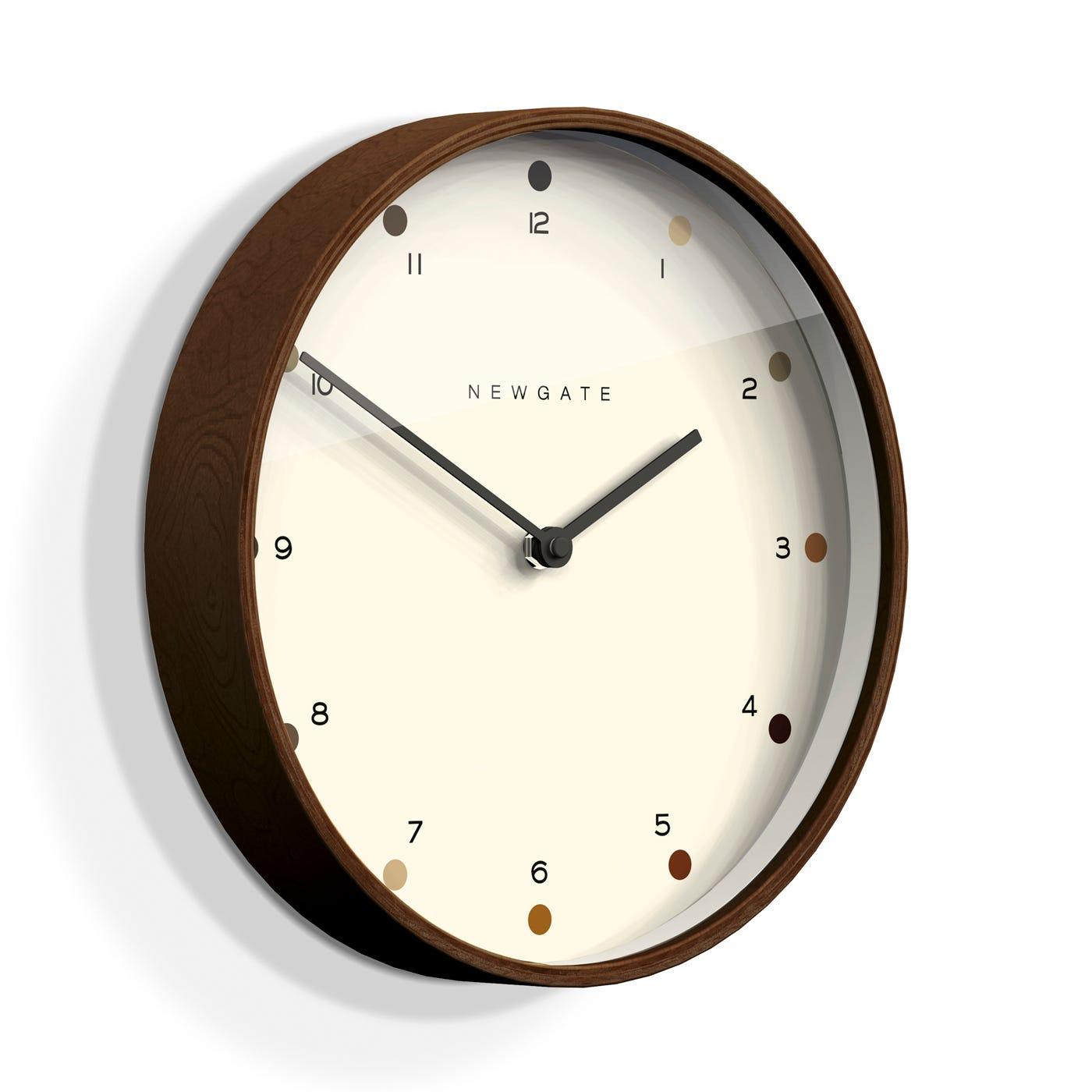 Mr Clarke Dark Wood Wall Clock