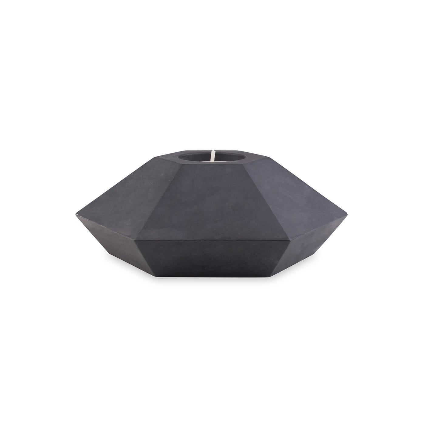 Concrete Tealight Holder in Black