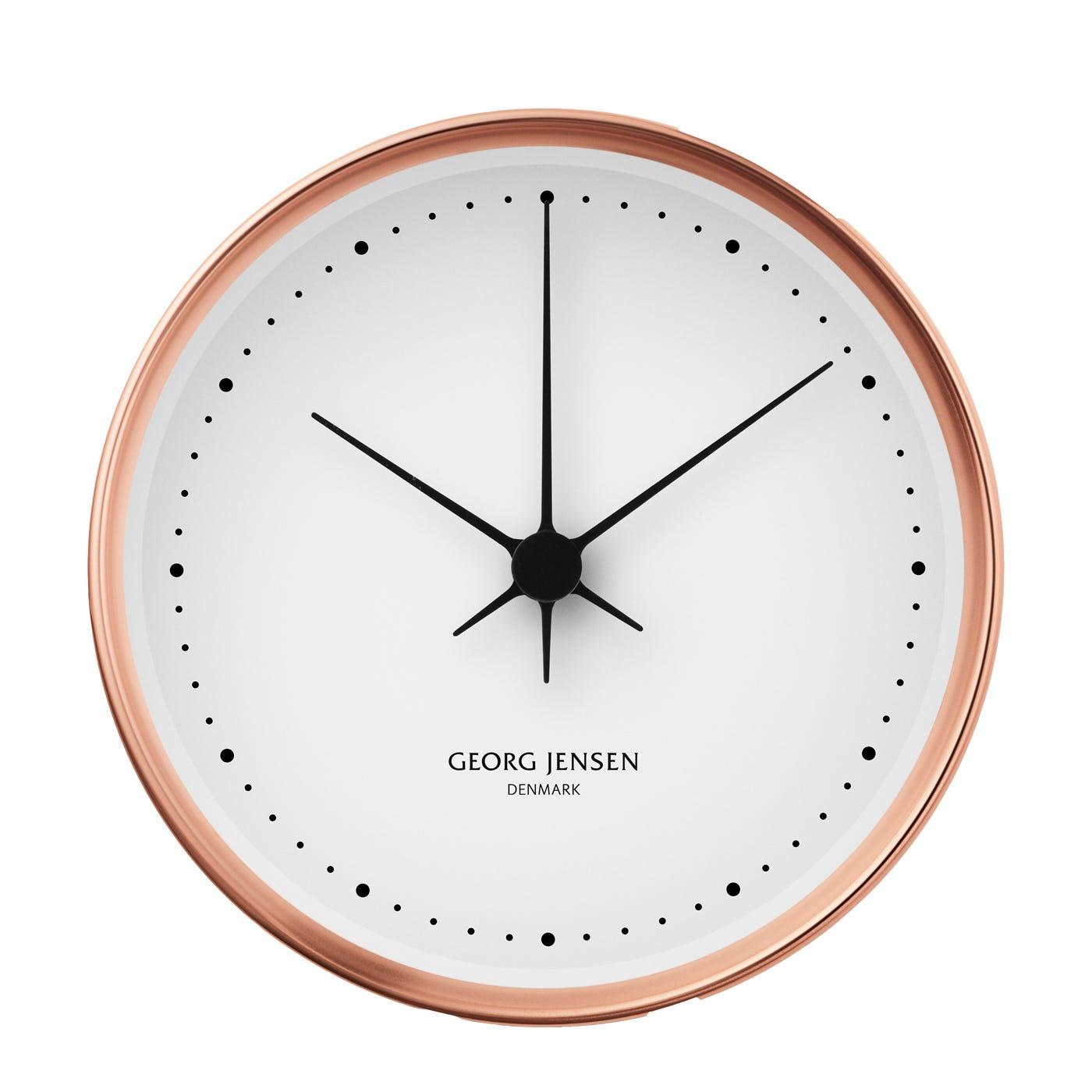 Koppel White & Copper Clock