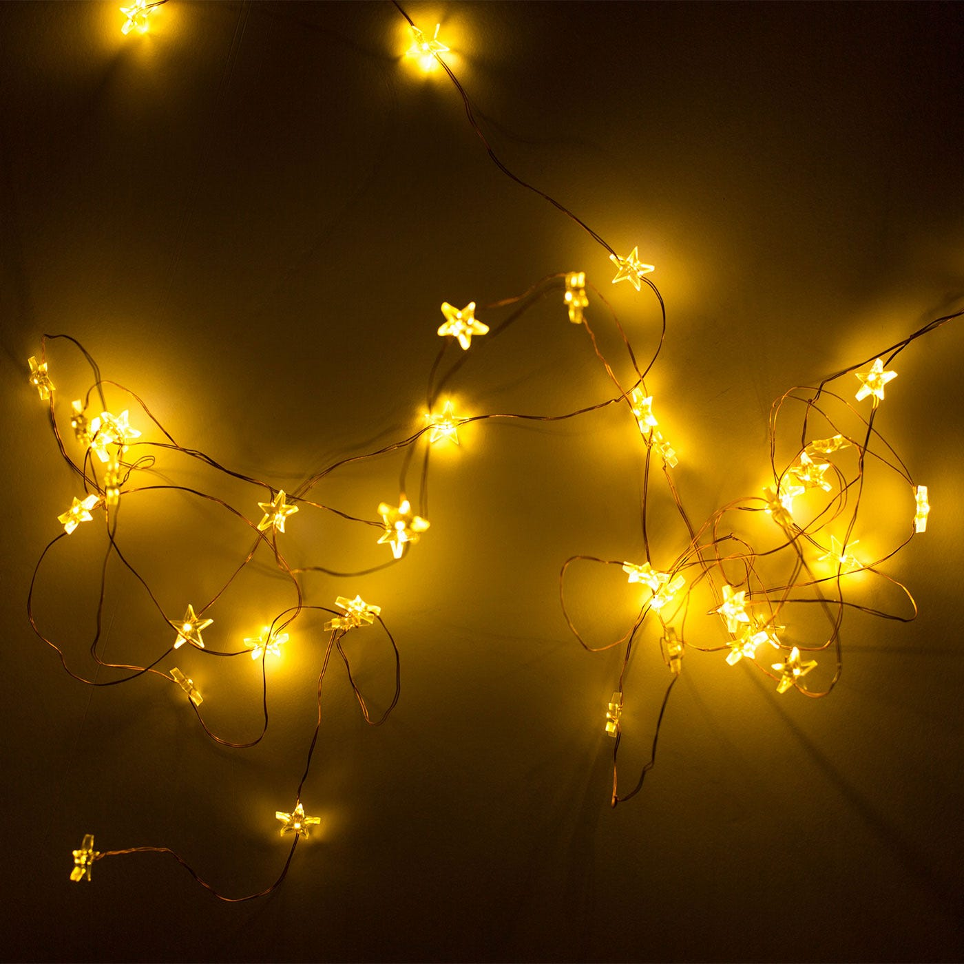 Trille Star 40 String Lights Copper Wire
