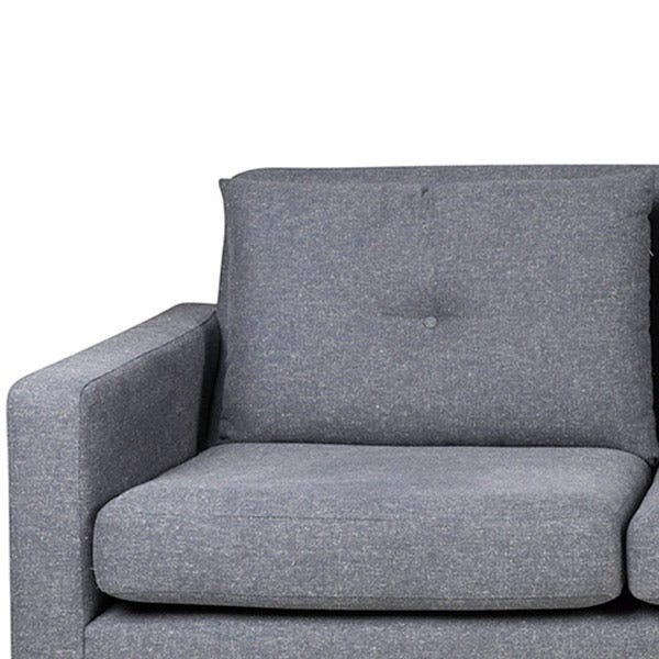 Comfortable foam seat and fibre filled back cushions