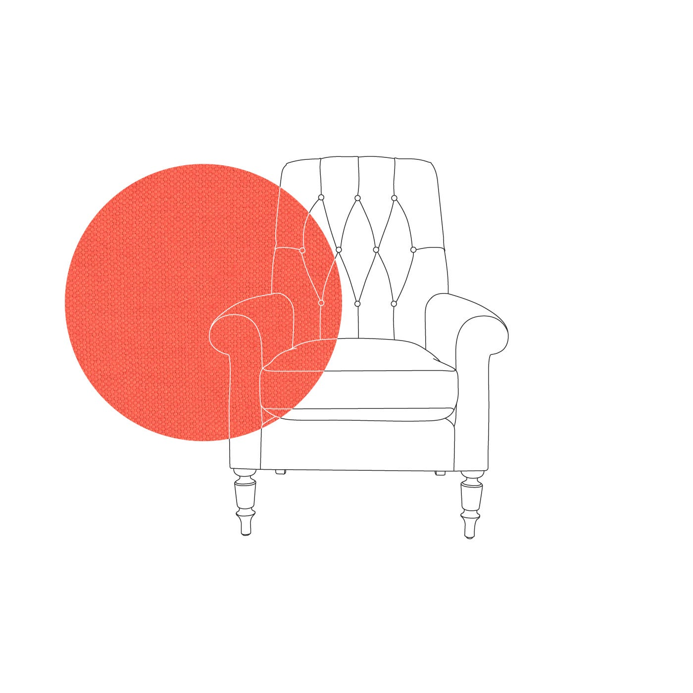 Victoria Button Back Armchair
