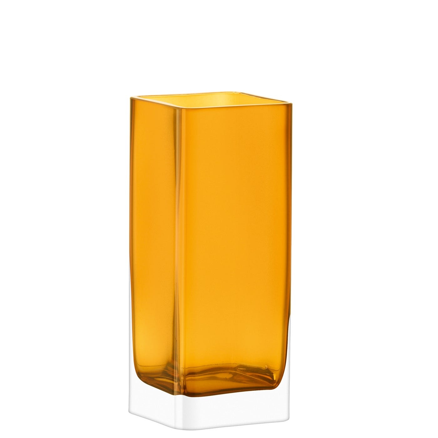 Modular Square Vase Amber Medium