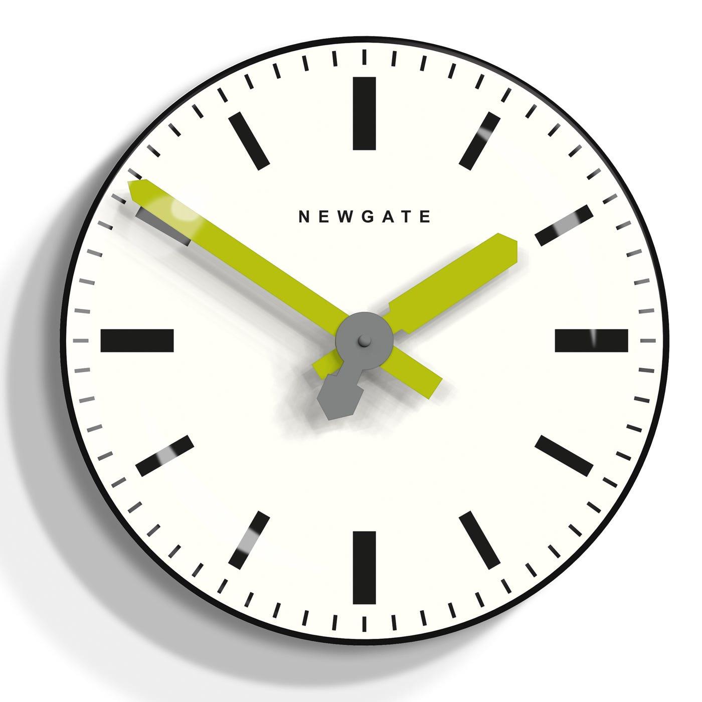 Time Pill Black Wall Clock