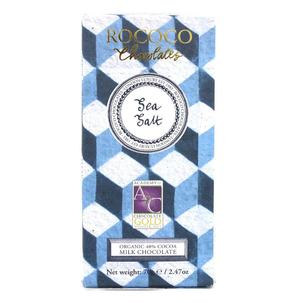 Organic Sea Salt Milk Chocolate Bar