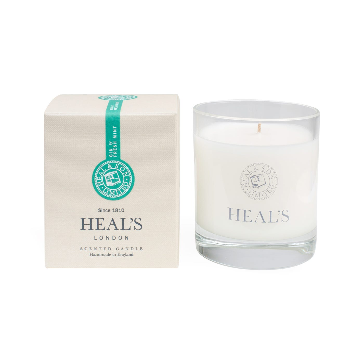 Gin & Fresh Mint Scented Glass Candle