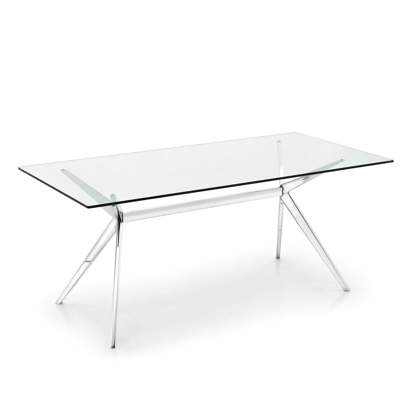 Seven Dining Table Chrome & Glass