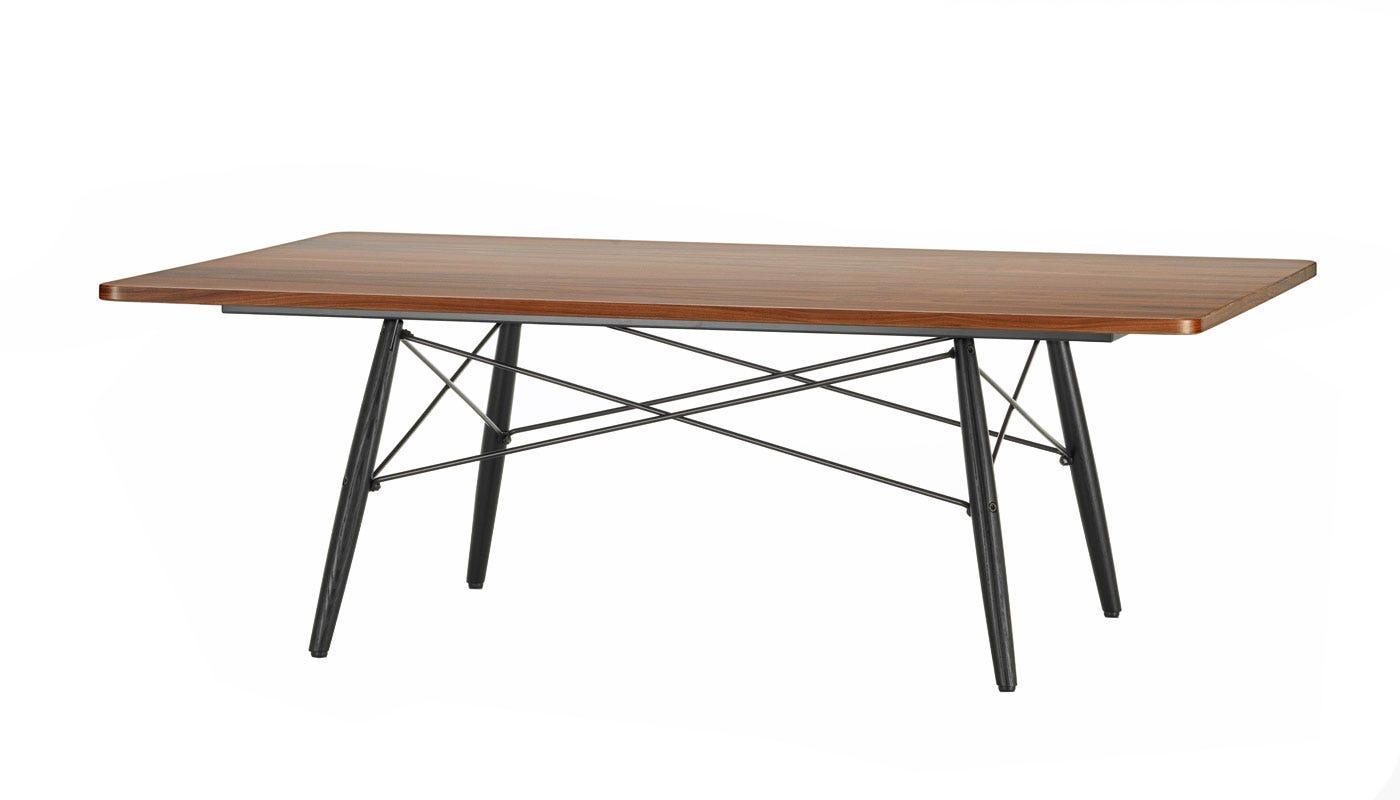 eames rectangular coffee table black ash base -