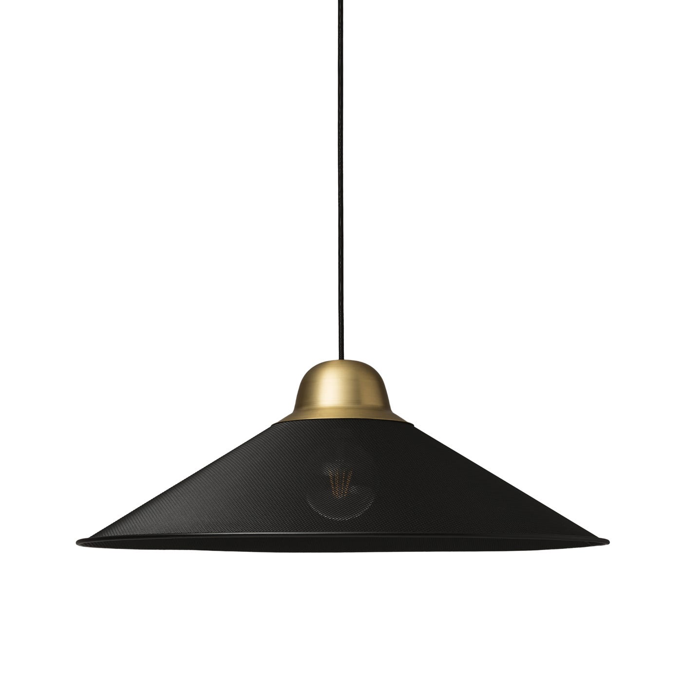 Aura Large Pendant Lamp Black/Brass -  DISC