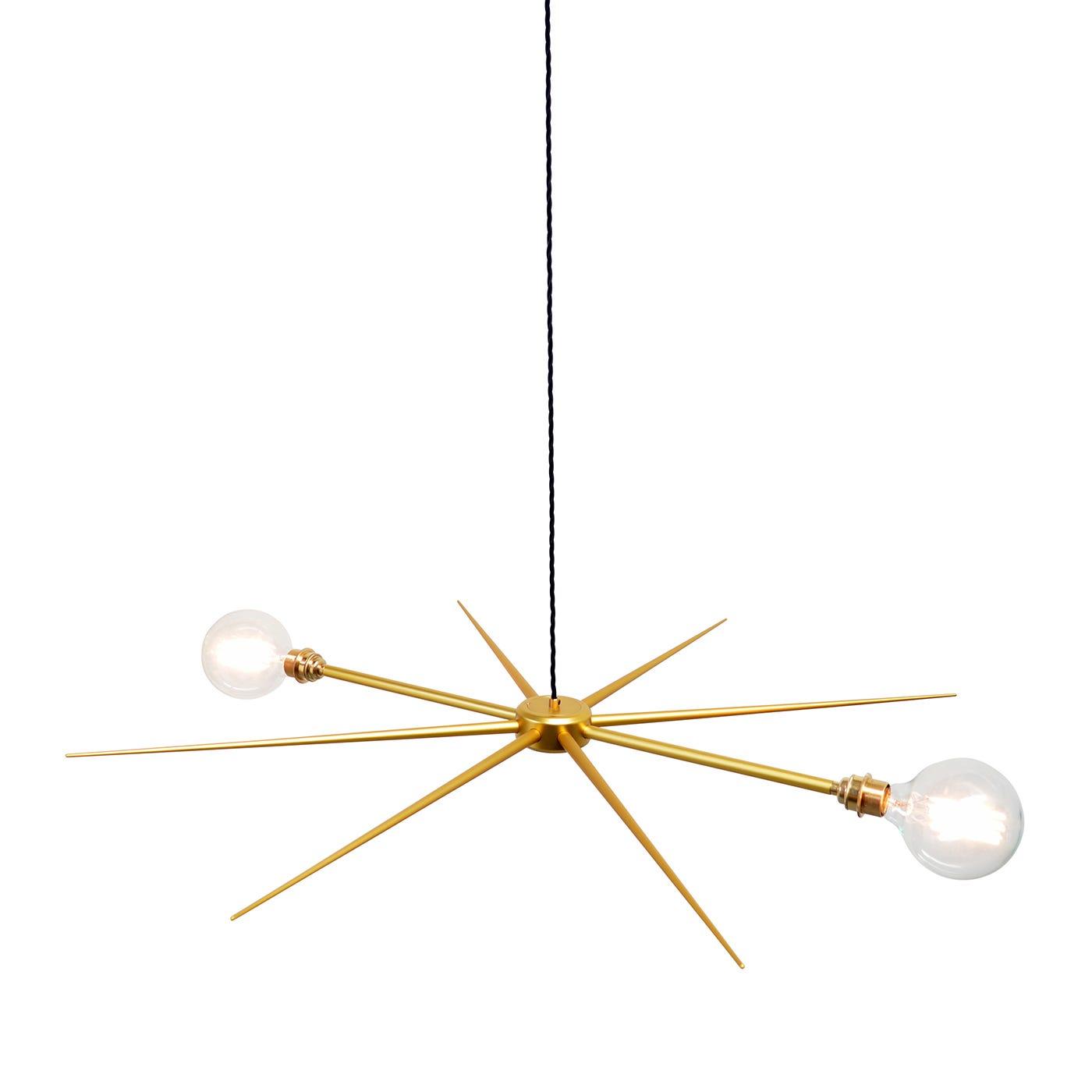 Vega 8- 2 Globe Filament Chandelier