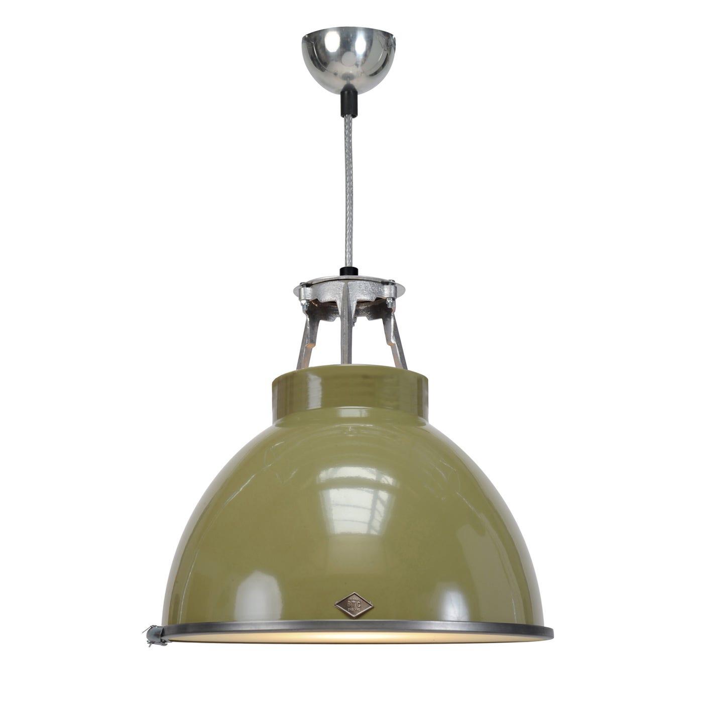 Titan Size 1 Pendant Light Olive Green
