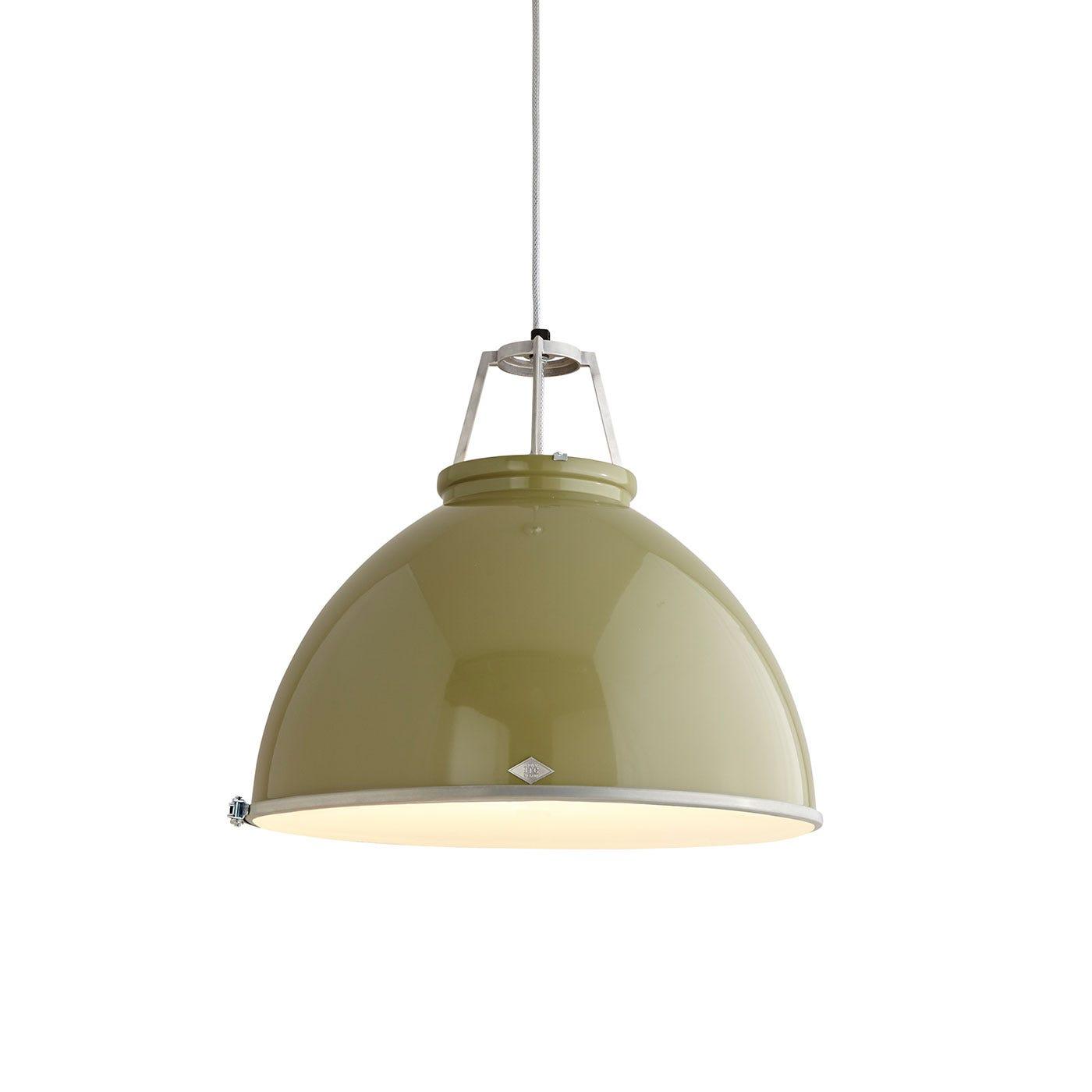 Titan Size 5 Pendant Light Olive Green