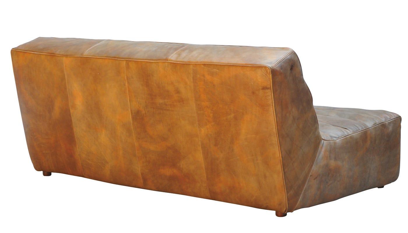 Phenomenal Shabby 3 Seater Sofa Savage Leather Creativecarmelina Interior Chair Design Creativecarmelinacom