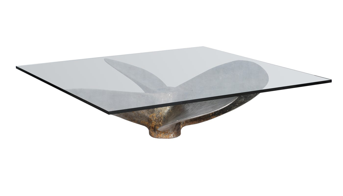 Glass coffee tables junk art propeller timothy oulton - Junk Art Propeller Square Coffee Table Coffee Tables