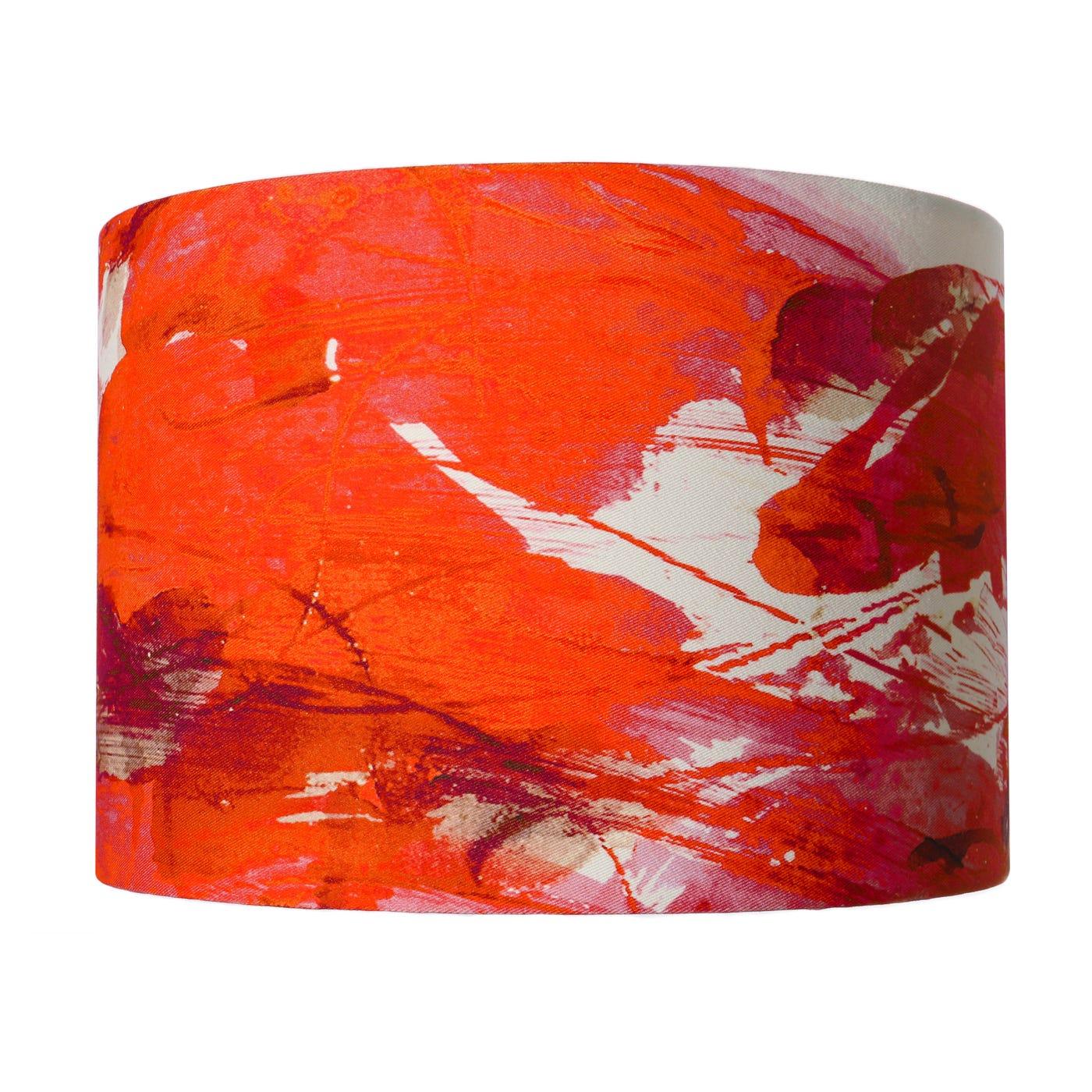 Sedum Detail in Orange Lampshade  - Discontinued